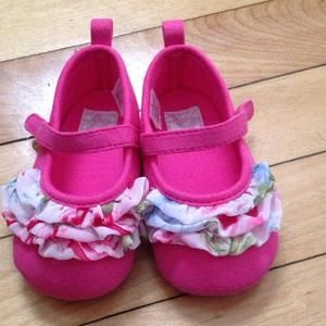 Other - Hot pink/floral shoes
