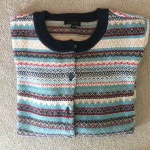 NWOT Talbots never worn multi-colored cardigan.