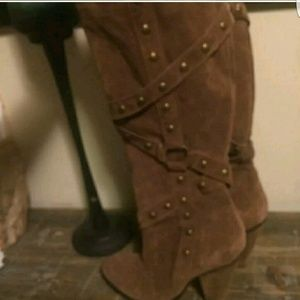 Santana Shoes - Knee Strappy Stud Boots!!  1 Hour ONLY!!😄