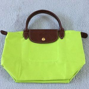 Longchamp Handbags - Longchamps  Le Pilage lime green tote NWOT Tote