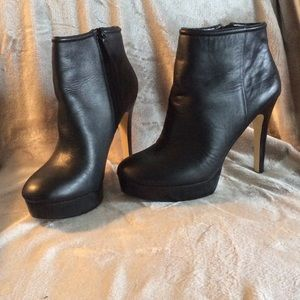 BCBG Shoes - SALE!!  BCBG black leather booties - like new!!