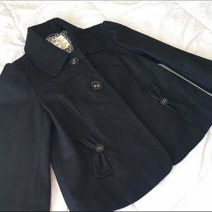 Black Tulle wool jacket. Size small