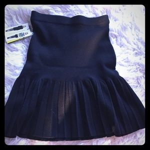 NWT Catherine Malandrino black skirt size XS