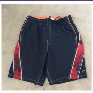 Speedo Other - Men's navy and orange speedo swim trunks