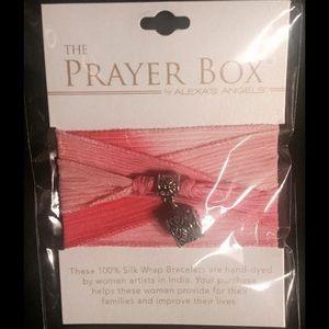 Prayer Silk Wrap Bracelet.