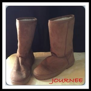"Journee Collection Shoes - # 158  🌴 JOURNEE COLLECTION FAUX SUEDE 11"" BOOT"
