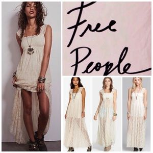 Free People Dresses & Skirts - Free People Sheer Lace Maxi Dress.  NWT.