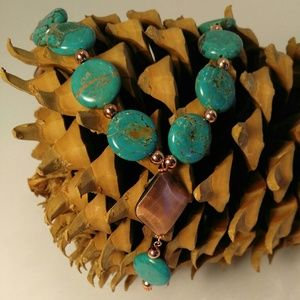  Host Pick Copper and turquoise necklace