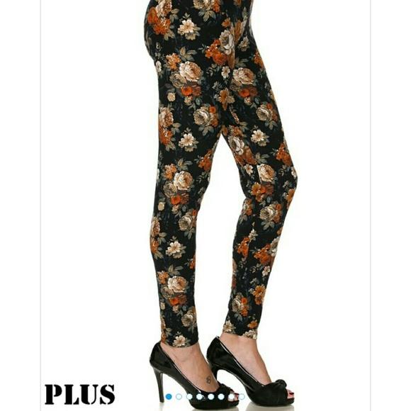 3205e0e5d2d9c boutique Pants | 2 Left Plus Size Soft Fall Floral | Poshmark