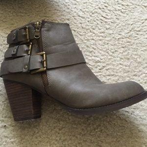 Mossimo Buckled Ankle Boots