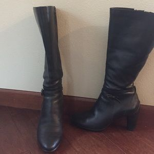 Ecco structure 75 tall boots black
