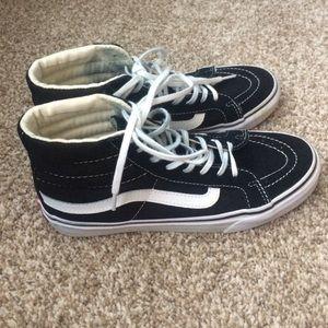 Vans Shoes - Black and white sk8 hi slim