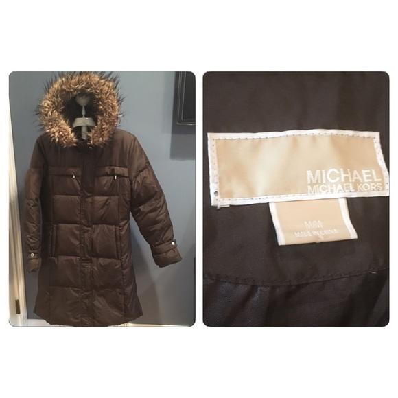 310d34e13 Michael Kors Brown hooded Down puffer coat