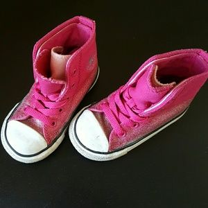 046ea7e75742 Converse Shoes - Converse Size 6 Toddler Pink Sparkle Sneakers