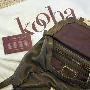 Kooba Handbags - 🐘Kooba🐘Gray learher crossbody handbag