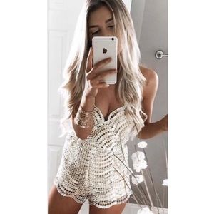 Gold Luxe Romper