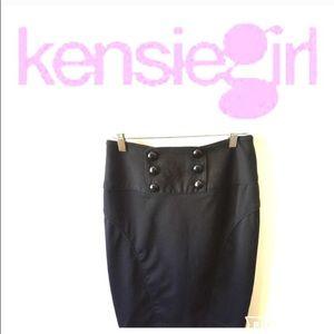 Black pencil skirt by Kensiegirl