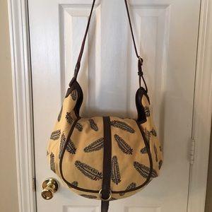 Lucky Brand Handbags - 🛍 Lucky Brand Feather Large Cross Body Bag