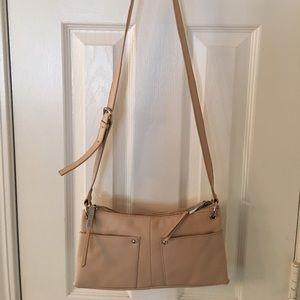 Perlina Handbags - 🛍 Perlina Cream Silver Leather Cross Body Bag