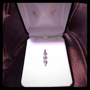 Kay Jewelers white gold and diamond pendant