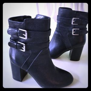 Nine West booties 6.5M black leather