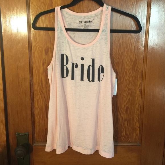 3ece7b063350e Pink Bride Tank Top