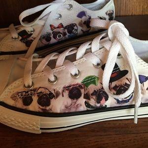 8b5e742d80f Converse Shoes - Converse Kids size 3 Pug Shoes NEW