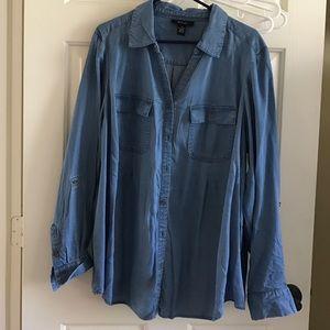 NWT denim colored shirt 2X