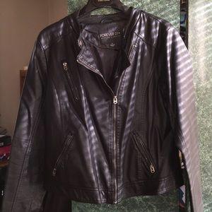 Forever 21 Jackets & Blazers - Black Moto biker jacket
