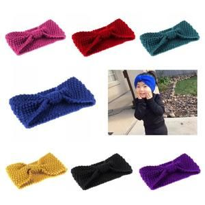 Knit bow knot headband