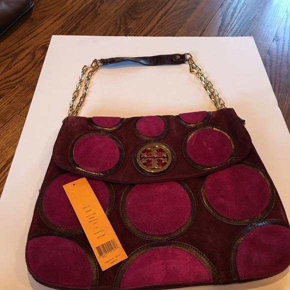 fc3eea37b3f Authentic Tory Burch Happy Hobo Suede purse. M 580cf872620ff7531200bf4f