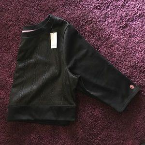 Sophie Theallet Tops - Lane Bryant Livi Active Black Crop Top Sweat Shirt