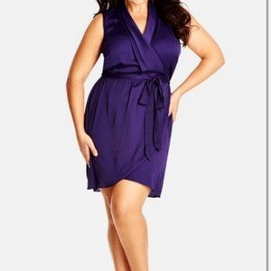 Purple Tunic Dress City Chic L 20