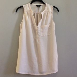 H&M sleeveless blouse, pink, size 4