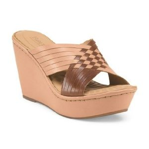 Born Leather Wedges 9
