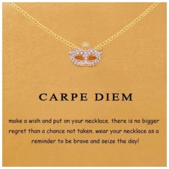 ED30 18K Gold Dipped Carpe Diem Necklace & Card Boutique