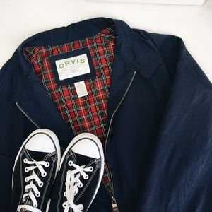 Orvis Other - ORVIS Navy and Plaid Jacket