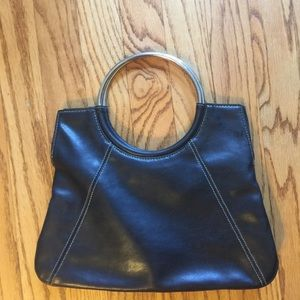 Vintage '60's black leather purse