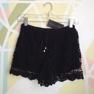  NEW LOOK crochet shorts