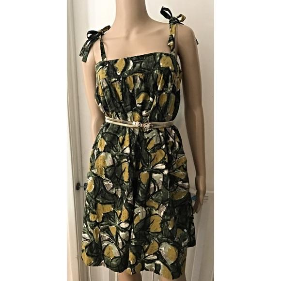 Anthropologie Dresses Nwt Anthro Fei Vintage Leaves Fruit Dress Poshmark