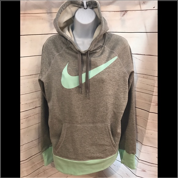 Nike Therma Fit grey & mint green hoodie