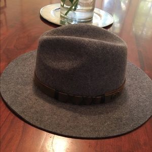 Pistil Accessories - Pistil gray wool hat. With leather detail. 05c4cbaffa3