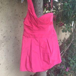 BCBG pink taffeta dress