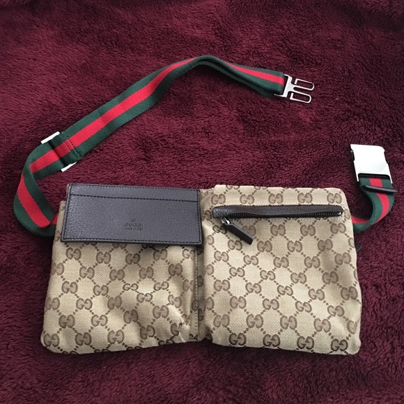 b54d9fb498b Gucci original GG canvas belt bag (fanny pack)