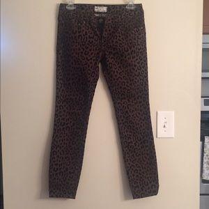 Free People leopard print skinny jeans!