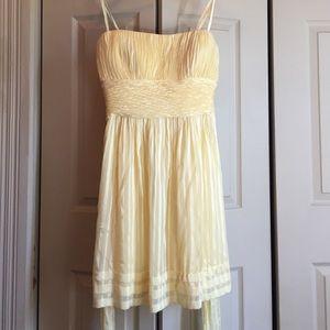 Pale yellow BCBG Max Azria dress, size 12