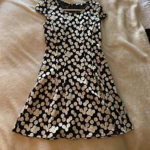 Collective Concepts Dresses & Skirts - Black and White Polka Dot Dress