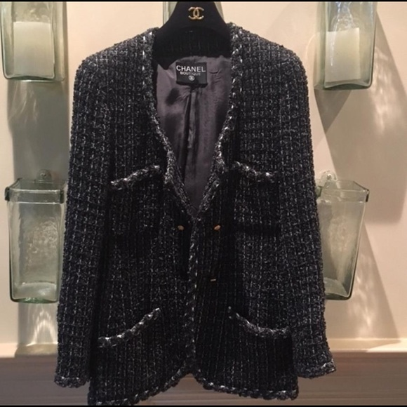 83% off CHANEL Jackets & Blazers - *sold* Auth Chanel tweed jacket ...