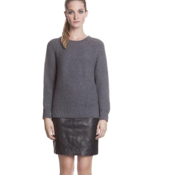 80 sandro dresses skirts sandro quilted leather