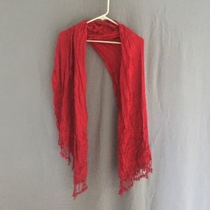 Accessories - Red Scarf - Worn Once